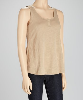 Taupe Scoop Neck Tank