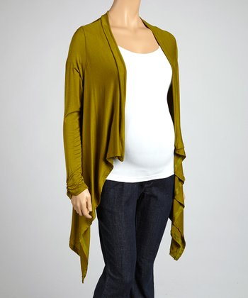 Moss Maternity Open Cardigan