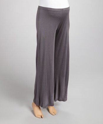 Charcoal Maternity Wide-Leg Yoga Pants