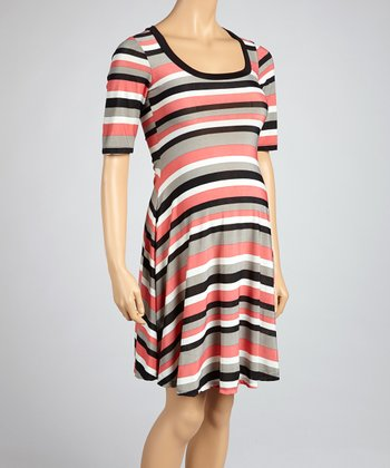 Pink Stripe Maternity Dress