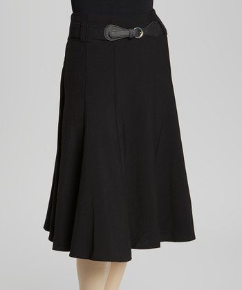 Black Belted Skirt