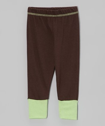 Brown & Green Leggings - Infant