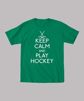 Kelly Green 'Keep Calm and Play Hockey' Tee - Toddler & Boys