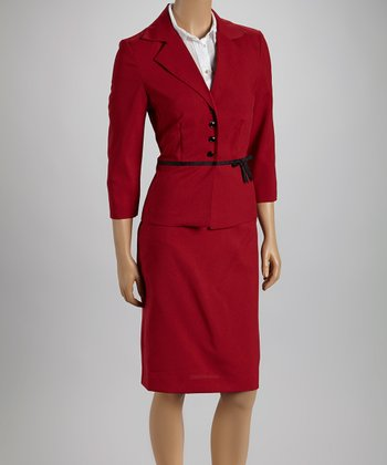 Red Ribbon Blazer & Skirt