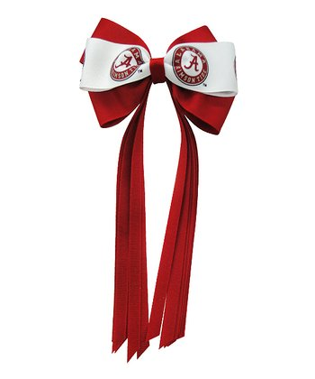 Red & White Alabama Streamer Bow
