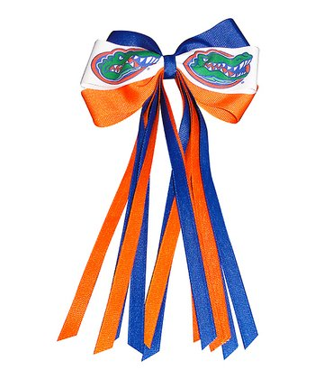 Orange & Blue University of Florida Streamer Bow