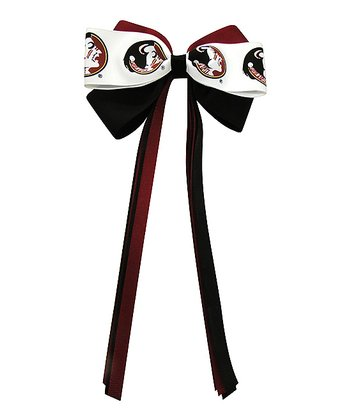 Garnet & Black Florida State Streamer Bow