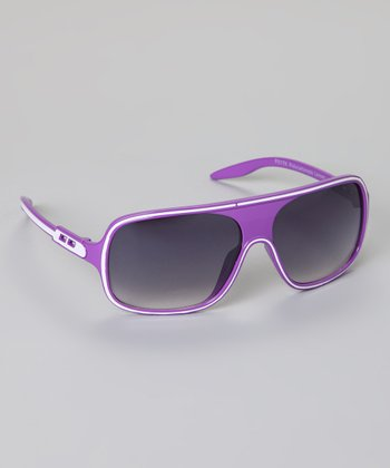 Purple Stripe Sunglasses