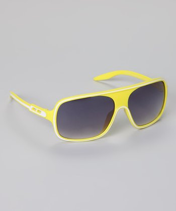 Yellow Stripe Sunglasses