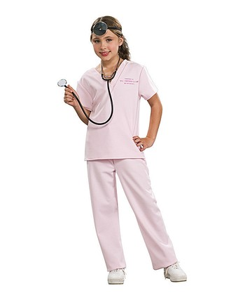 Pink Veterinarian Scrub Dress-Up Set - Girls