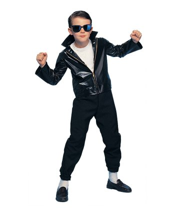 Black Greaser Dress-Up Set - Boys