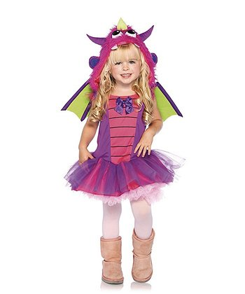 Pink & Purple Dragon Dress-Up Set - Toddler & Girls