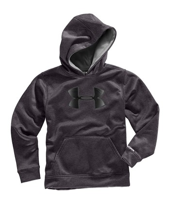 Carbon Heather Armour® Fleece Storm Big Logo Hoodie - Boys