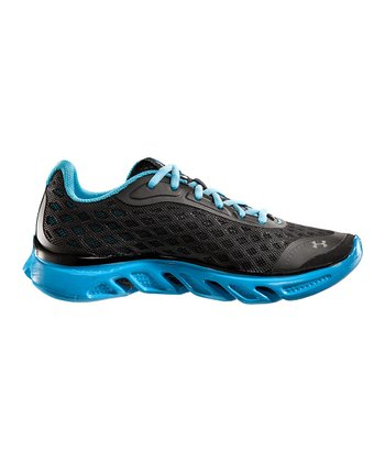 Black UA Spine™ Grade School Running Shoe - Boys