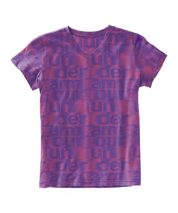 Lavish UA Script Burnout V-Neck Tee - Girls