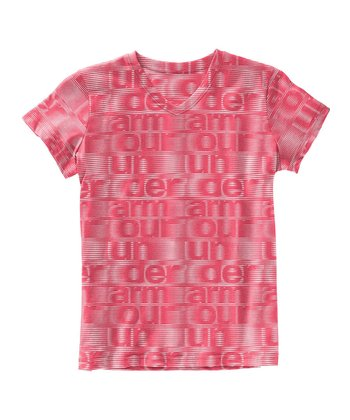 Power UA Script Burnout V-Neck Tee - Girls