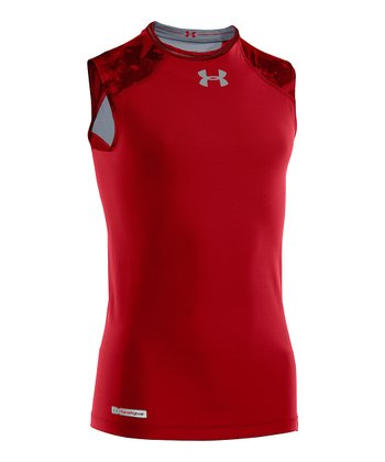 Red NFL Combine Authentic Fitted Sleeveless Top - Boys