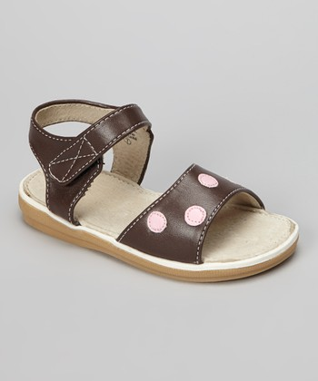 Chocolate & Pink Polka Dot Sandal