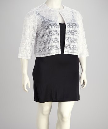 White Lace Bolero - Plus