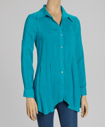 Jade Long-Sleeve Button-Up