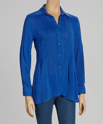 Lapis Crisp Button-Up
