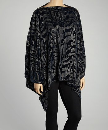 Black Geometric Cape