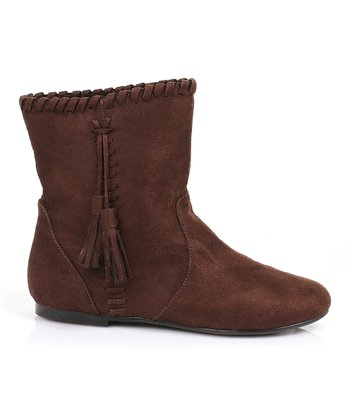 Brown Moccasin Boot - Girls