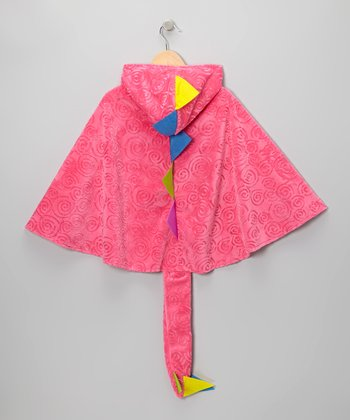 Pink Dino Hooded Cape