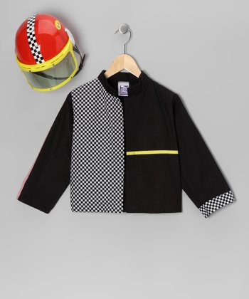 Black Race Car Helmet & Jacket - Toddler & Kids