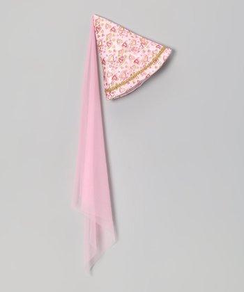 Pink Heart Princess Cone Hat