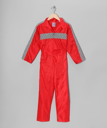 Red Racecar Driver Jumpsuit - Kids