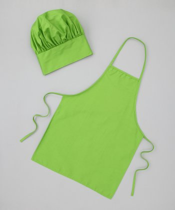 Green Chef Dress-Up Apron & Hat