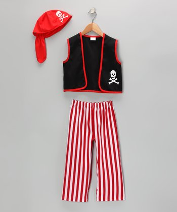 Red & Black Buccaneer Dress-Up Set - Toddler & Kids