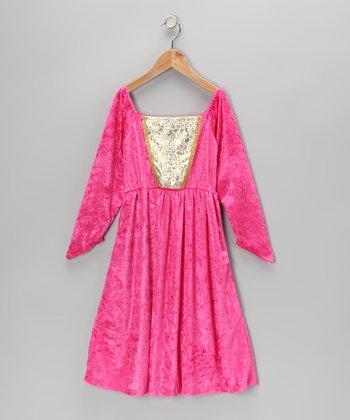 Pink & Gold Velour Juliet Princess Dress - Toddler & Girls