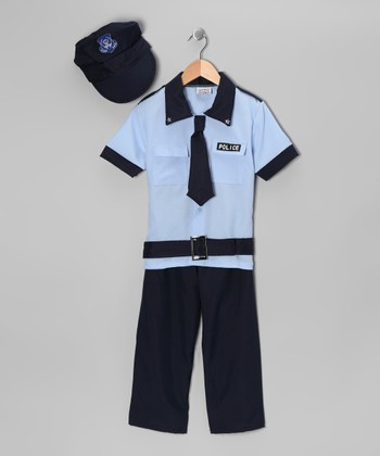 Navy Deluxe Police Officer Dress-Up Set - Toddler & Kids