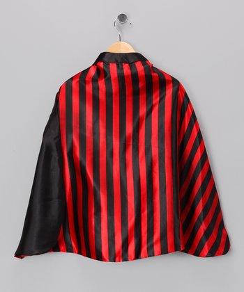 Red & Black Stripe Pirate Cape - Kids