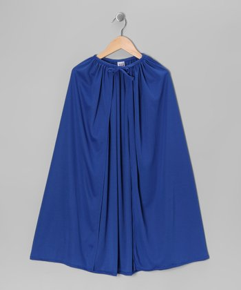 Blue Knit Cape