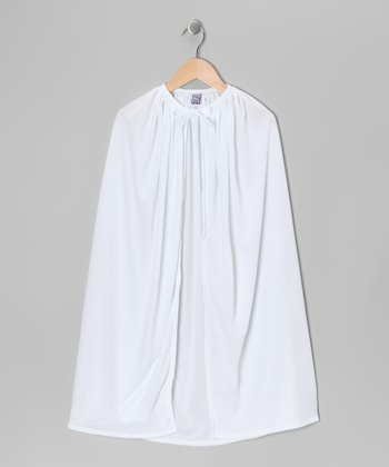 White Knit Cape - Toddler & Kids
