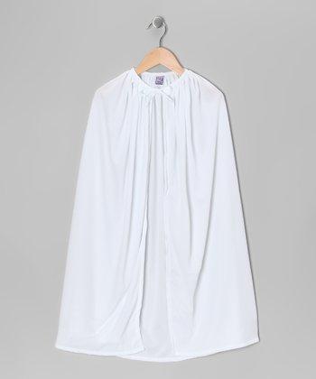 White Knit Cape