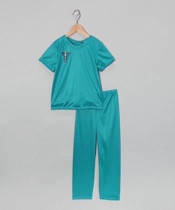 Blue Medical Scrub Dress-Up Set - Toddler & Kids