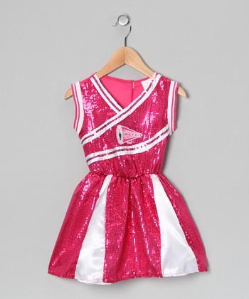 Hot Pink Sequin Cheerleader Dress - Toddler