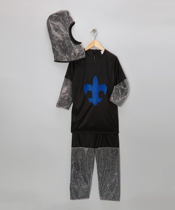 Black & Royal Blue Chainmail Knight Dress-Up Set - Toddler & Kids