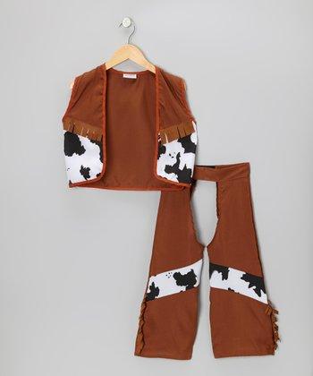 Brown Cowboy Dress-Up Set - Kids