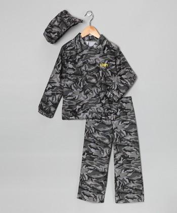 Green Camo Soldier Dress-Up Set - Toddler & Boys