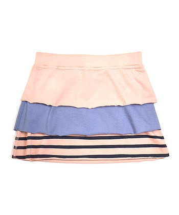 Pink & Cornflower Anna Tiered Organic Skirt - Toddler & Girls