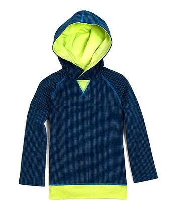 Blue & Lime Antonio Organic Hoodie - Toddler & Boys