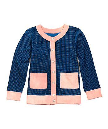 Blue & Pink Camilla Organic Cardigan - Toddler & Girls