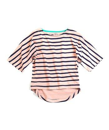 Pink Stripe Chelsea Organic Dolman Top - Toddler & Girls