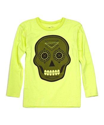 Lime Skull Organic Tee - Toddler & Boys