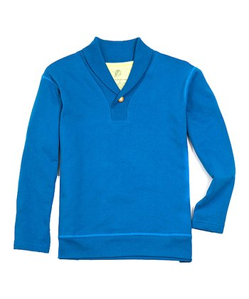 Blue Trevor Organic Pullover - Toddler & Boys